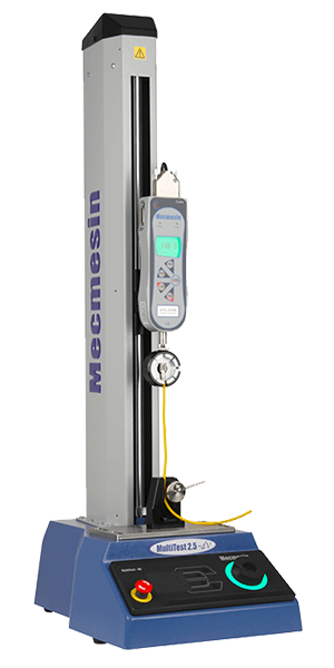 Product shot of wire crimp pull tester by Mecmesin